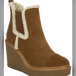 Sam Edelman Raegan Wedge Booties with shearling